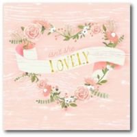 """Courtside Market """"Isn't She Lovely"""" 16-Inch Square Canvas Wall Art"""