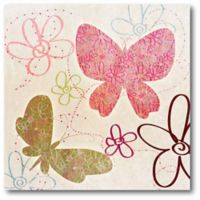 Courtside Market Fly Away II 16-Inch Square Canvas Wall Art