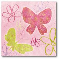 Courtside Market Fly Away II 16-Inch Square Canvas Wall Art in Pink