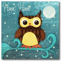 """Courtside Market """"Hoot Hoot"""" Owl 16-Inch Square Canvas Wall Art"""