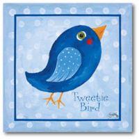 """Courtside Market Blue """"Tweetie Bird"""" 16-Inch Square Canvas Wall Art"""