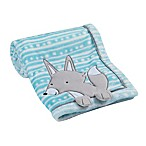 Lambs & Ivy® Fox Appliqued Blanket in Teal
