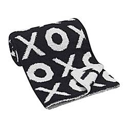 Xoxo Chenille Blanket In Black by Lambs &Amp; Ivy