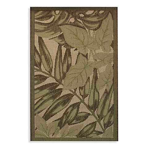 Palm Frond Indoor Outdoor Rug Bed Bath Amp Beyond