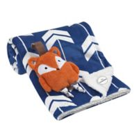 Lambs & Ivy® 2-Piece Fox Blanket and Stroller Toy Set in Blue/Orange