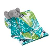 Lambs & Ivy® 2-Piece Tropical Blanket and Elephant Lovey Toy Set in Blue/Green