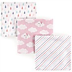 Luvable Friends® Clouds 3-Pack Flannel Receiving Blankets in Pink