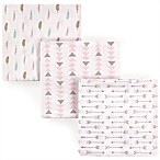 Luvable Friends® Feather 3-Pack Flannel Receiving Blankets in Pink