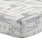 Lambs & Ivy® Goodnight Giraffe Signature Moonbeams Fitted Crib Sheet in Grey/Gold