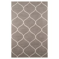 Momeni Newport Trellis 2' x 3' Accent Rug in Grey