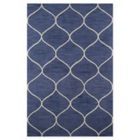 Momeni Newport Trellis 2' x 3' Accent Rug in Blue