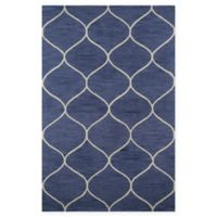 Momeni Newport Trellis 9' x 12' Area Rug in Blue