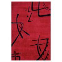 Momeni Koi 5'3 x 8' Area Rug in Red
