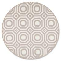 Momeni Heavenly Geometric 4' Round Area Rug in Grey