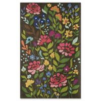 Momeni Newport Floral 3'9 x 5'9 Area Rug in Brown