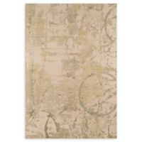 Momeni Illusions Scroll 2' x 3' Accent Rug in Olive