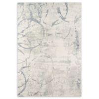 Momeni Illusions Scroll 7'6 x 9'6 Area Rug in Grey