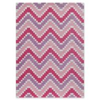 Momeni Heavenly Chevron 7'6 x 9'6 Area Rug in Pink