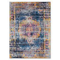 Surya Silk Road Vintage-Inspired 2' x 3' Accent Rug in Blue