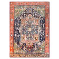 Surya Silk Road Vintage-Inspired 2' x 3' Accent Rug in Coral