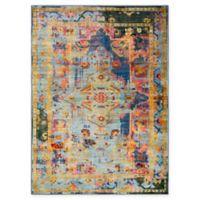 Surya Silk Road Vintage-Inspired 5'3 x 7'3 Area Rug in Dark Blue