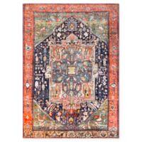 Surya Silk Road Vintage-Inspired 5'3 x 7'3 Area Rug in Coral