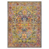 Surya Silk Road Vintage-Inspired 5'3 x 7'3 Area Rug in Lime