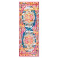Surya Silk Road Vintage-Inspired 2'7 x 7'3 Runner in Pink