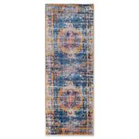 Surya Silk Road Vintage-Inspired 2'7 x 7'3 Runner in Blue