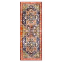 Surya Silk Road Vintage-Inspired 2'7 x 7'3 Runner in Coral
