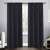 Elle 108-Inch Rod Pocket Room Darkening Window Curtain Panel Pair in Navy