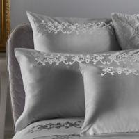 Frette At Home Antico European Pillow Sham in White/Silver