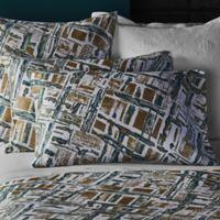 Frette At Home Malachite Standard Pillow Sham in Green/Gold