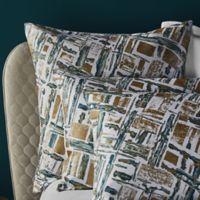 Frette At Home Malachite European Pillow Sham in Green/Gold