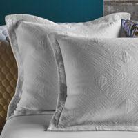 Frette At Home Malachite European Pillow Sham in White