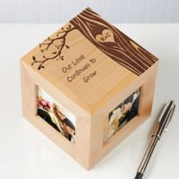 Carved In Love 4-Photo 2.5-Inch x 2.5-Inch Photo Cube