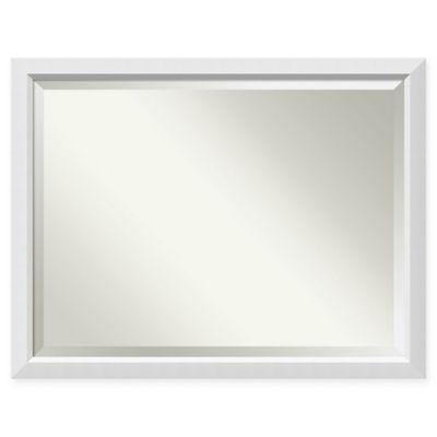 Amanti Art Blanco Oversized Bathroom Mirror In White