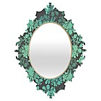 Deny Designs Gabi Audrey Baroque Small Mirror in Teal