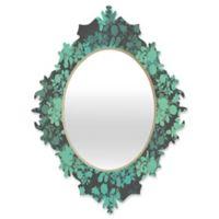 Deny Designs Gabi Audrey Baroque Medium Mirror in Teal