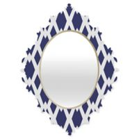 Deny Designs Lisa Argyropoulos Daffy Lattice Medium Baroque Mirror in Navy