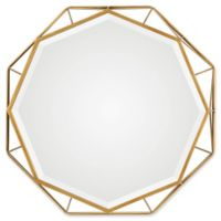 30-Inch Uttermost Mekhi Octagonal Antiqued Gold Mirror