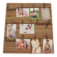 "Brewster ""Live Laugh Love"" Photo Clip Frame"
