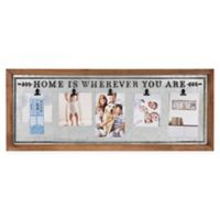 "Brewster Home Fashions ""Home Is Wherever You Are"" 5 Photo Clip Frame"