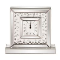 Howard Elliott® Collection Glass Crystal Accented Mirrored Clock