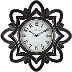 FirsTime® Rosette Wall Clock in Oil Rubbed Bronze
