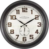 FirsTime® Blake Dual Round Wall Clock in Oil Rubbed Bronze