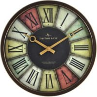 FirsTime® Prismatic Round Wall Clock in Brown/Gold