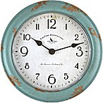FirsTime® Patina Round Wall Clock in Teal