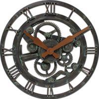 FirsTime® Oxidized Gears Round Wall Clock in Metallic