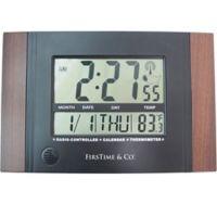 FirsTime® Executive Digital Tabletop Clock in Black
